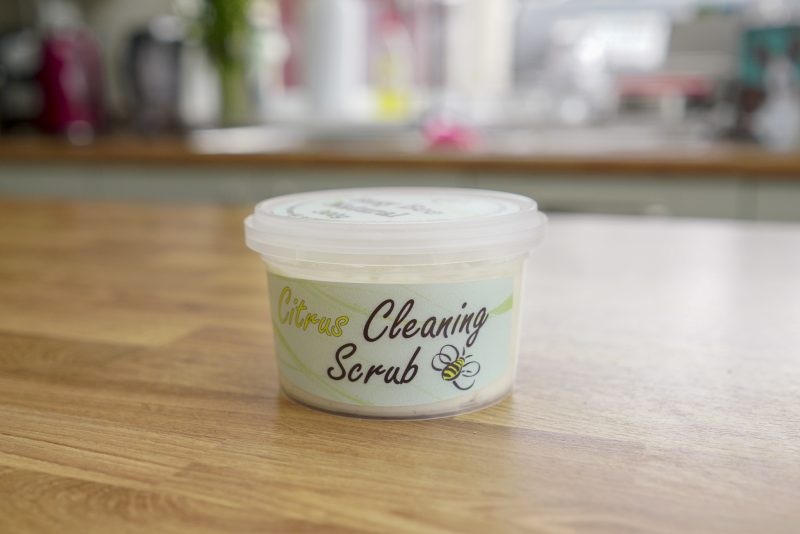 Citrus Cleaning Scrub, Vegan House Cleaning Products, Non Chemical Cleaning Products