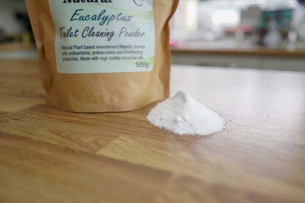 Eucalyptus Toilet Cleaning Powder, Natural Cleaning Products, Non Chemical Cleaning Products