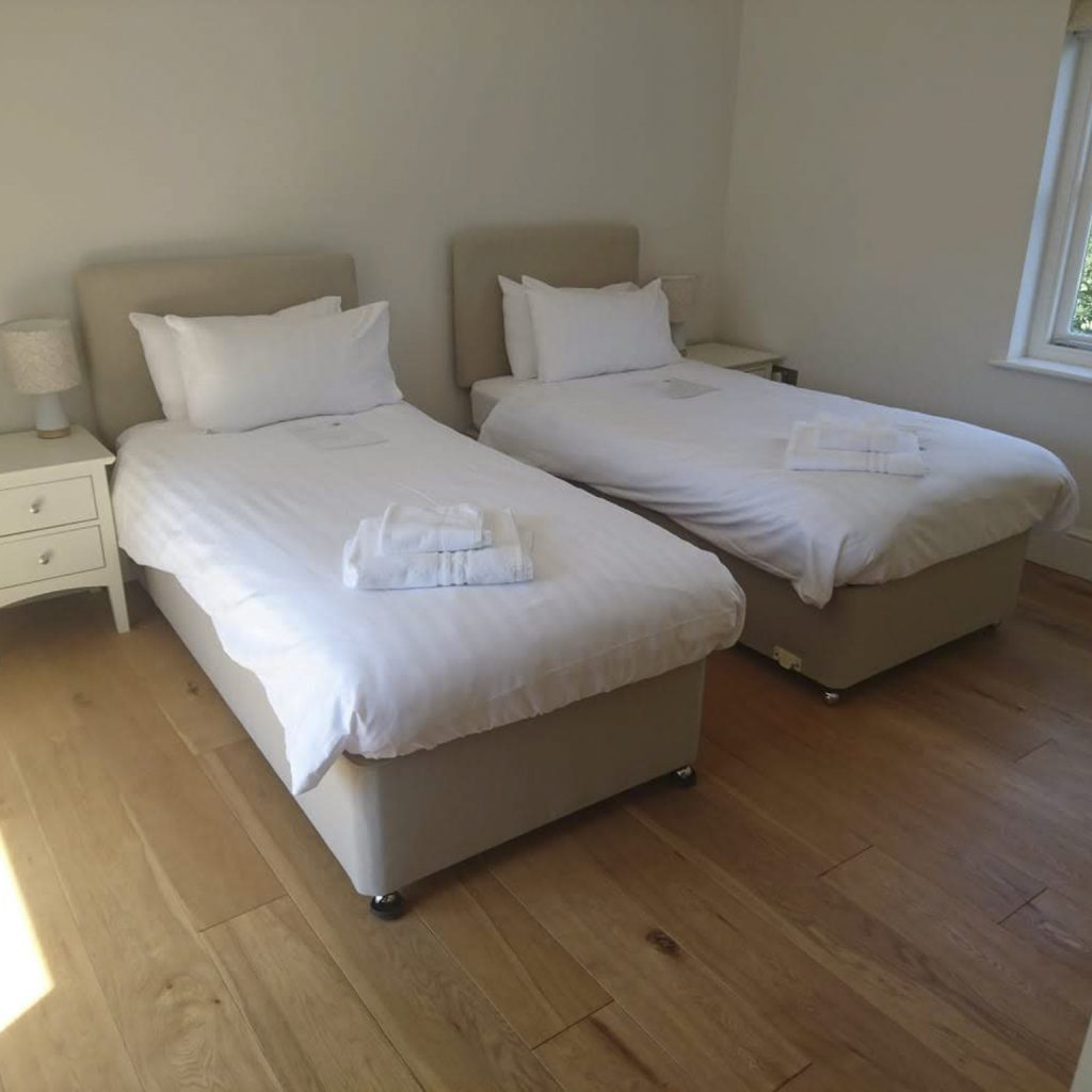 Holiday Cottage Bedroom After Home Cleaning Services, Chemical Free Cleaning, Commercial Cleaning
